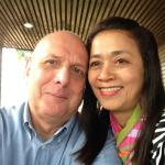 John Toms with estranged ex-wife Thanyaporn who he was having an acrimonious divorce with