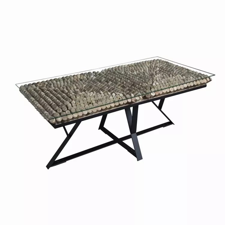 driftwood glass top with black metal base rectangular coffee table