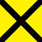 黒いクロスのパターン