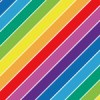 虹色に輝く斜線のレインボーシームレスパターン