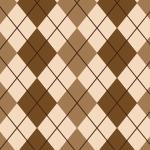 茶色ベースのアーガイルチェックのシームレスパターン
