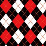 赤・白・黒のアーガイル柄