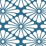 菊菱のシームレスパターン素材