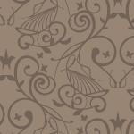西洋風の壁紙のようなシームレスパターン