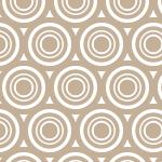 薄い茶色の丸が重なりあうのパターン