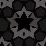 星形と5角形を並べたちょっとクールなシームレスパターン