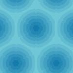ラデーションのように濃淡が変わる青色の花柄風シームレスパターン素材