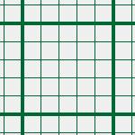 方眼紙のような緑のクロスパターン