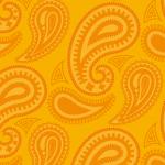 オレンジベースの色鮮やかなペイズリーパターン