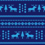 紺色の北欧風ノルディック柄パターン