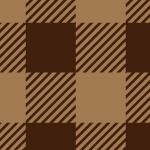 茶色のシェパードチェックのパターン