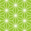 緑色の麻の葉柄パターン