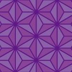 紫色の麻の葉の和柄パターン