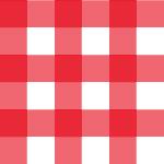 赤いギンガムチェックパターン