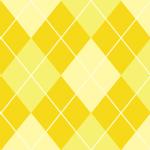 3色の黄色を使ったアーガイルチェックパターン