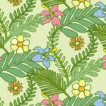 南国系の植物のイラストパターン