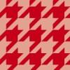 赤いハウンドトゥース柄パターン