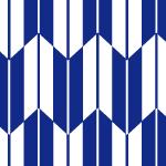 藍色と白の矢絣柄パターン