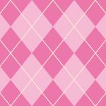 濃淡のある2色のピンクのアーガイルチェックパターン