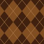2色の茶色を並べたアーガイルチェックパターン