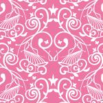 ピンク色の西洋風パターン