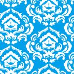 青と白の爽やかなダマスク柄パターン