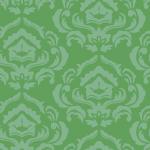 淡い2色の緑のダマスク柄パターン