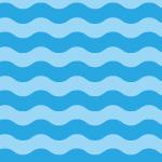 波のようなウネウネとしたパターン