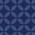 藍色ベースの和柄七宝パターン