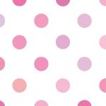 ピンクベースのポルカドットパターン