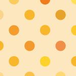 様々なオレンジ色のドットパターン