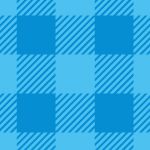 爽やかなブルーのシェパードチェック柄パターン