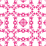 ピンク色の欧風壁紙パターン