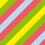夏を感じさせる色合いの斜線パターン