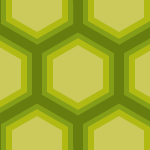 グラデーションのように見える緑の亀甲柄パターン