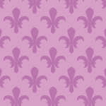 紫ベースの百合の紋章イラストパターン