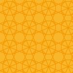 オレンジ色の幾何学パターン