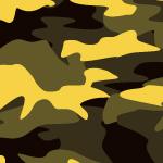 黄色の迷彩・カモフラージュ柄パターン