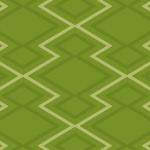 日本的な緑色の松皮菱柄パターン