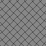 モノクロの極め細かいバスケットチェック柄パターン