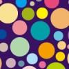 大きさも色も様々なドットパターン