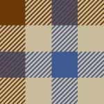 ブラウンベースのクラシックなガンクラブチェック柄パターン