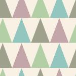 モダンなカラーの三角形が並んだパターン