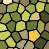 緑色基調のステンドグラス柄パターン