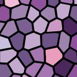 紫色のステンドグラス柄パターン