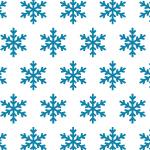 雪の結晶のイラストが並ぶパターン