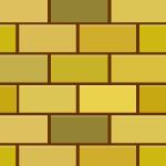 黄色のレンガブロック柄パターン
