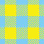 黄色と水色のポップなシェパードチェック柄パターン