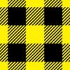 黒と黄色のシェパードチェック柄パターン