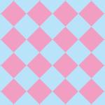 ピンクと水色のハーリキンチェック柄パターン
